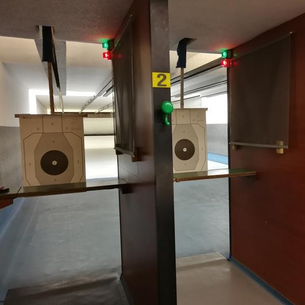 T.S.N. Treviglio / Struttura / Poligono in galleria a mt. 10 o 25 per armi corte di grosso calibro con 5 linee automatizzate 1